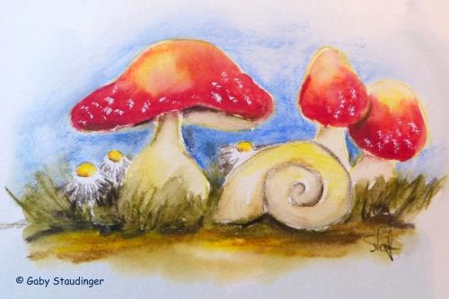Pilze mit schneckle
