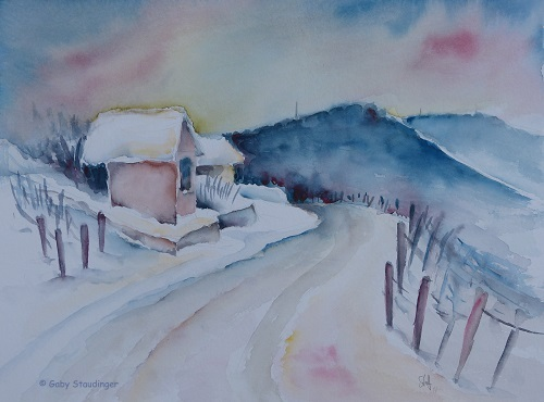 winter am weinberg